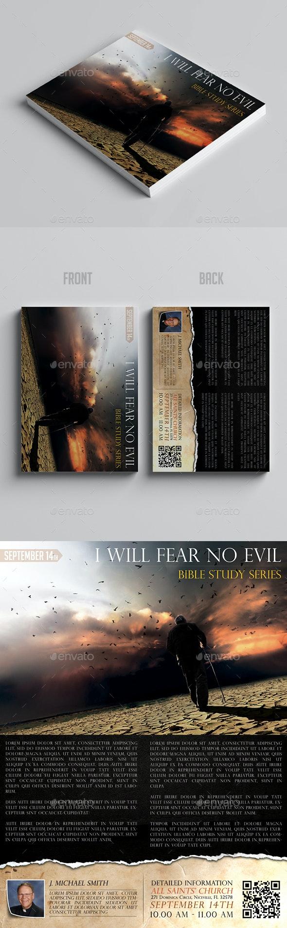 I Will Fear No Evil Vol.2 - Church Flyers
