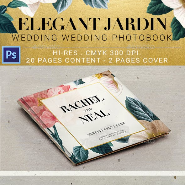 Elegant Jardin Wedding Photobook