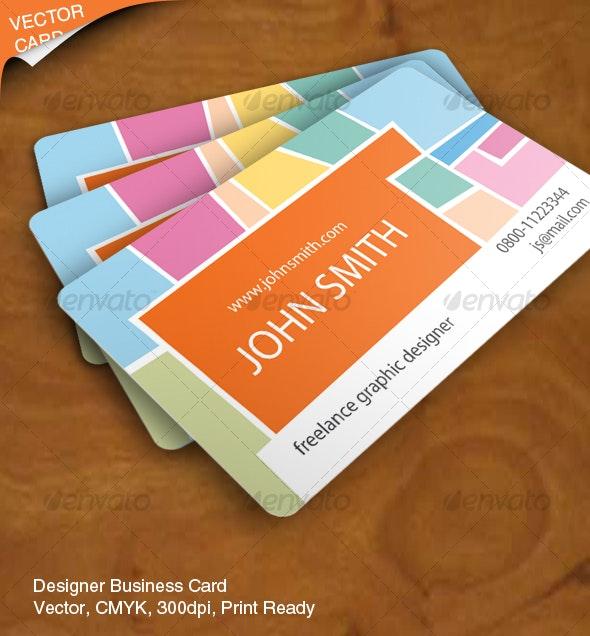 Designer Business Card, Vector - Creative Business Cards
