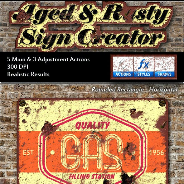 Aged & Rusty Sign Creator
