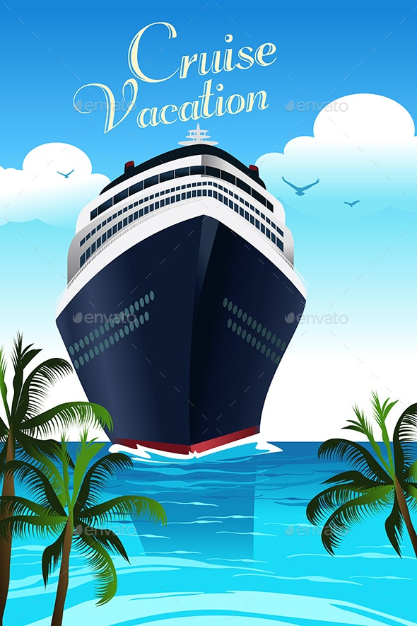 Cruise Vacation Poster - Travel Conceptual
