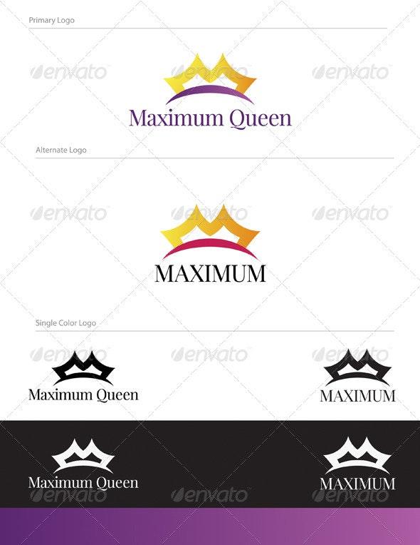 Maximum Queen Logo Design - OBJ-006 - Objects Logo Templates
