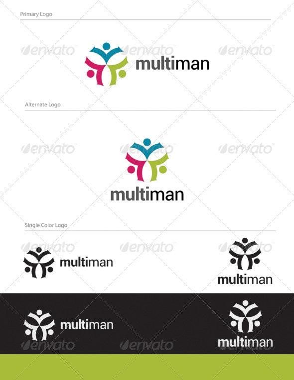 Multi Man Logo Design - HUM-007