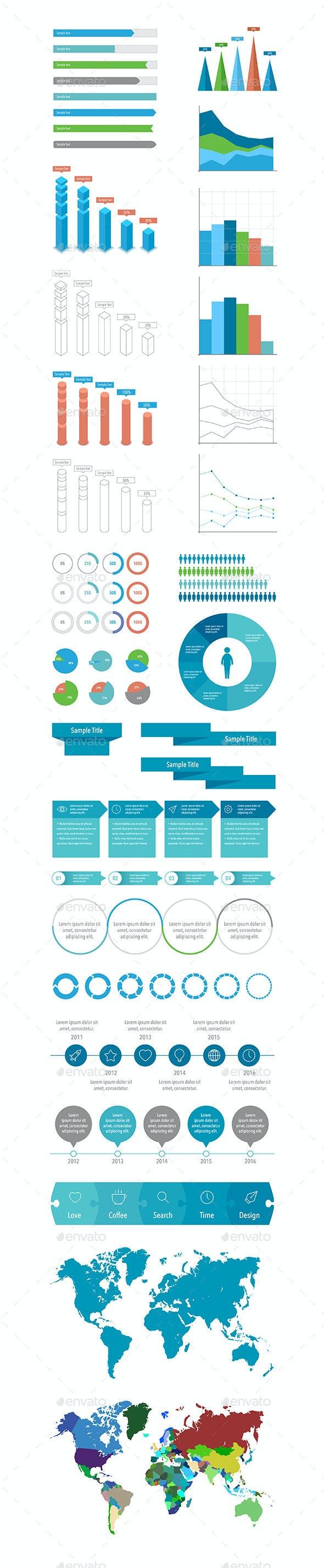 Set of Infographic Design Elements  - Infographics