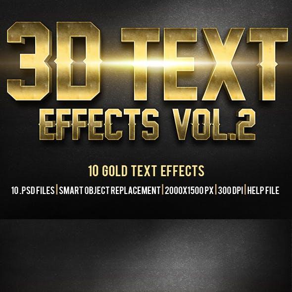 3D Text Effects Vol.2