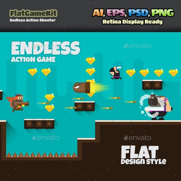 Shooter Flat Game
