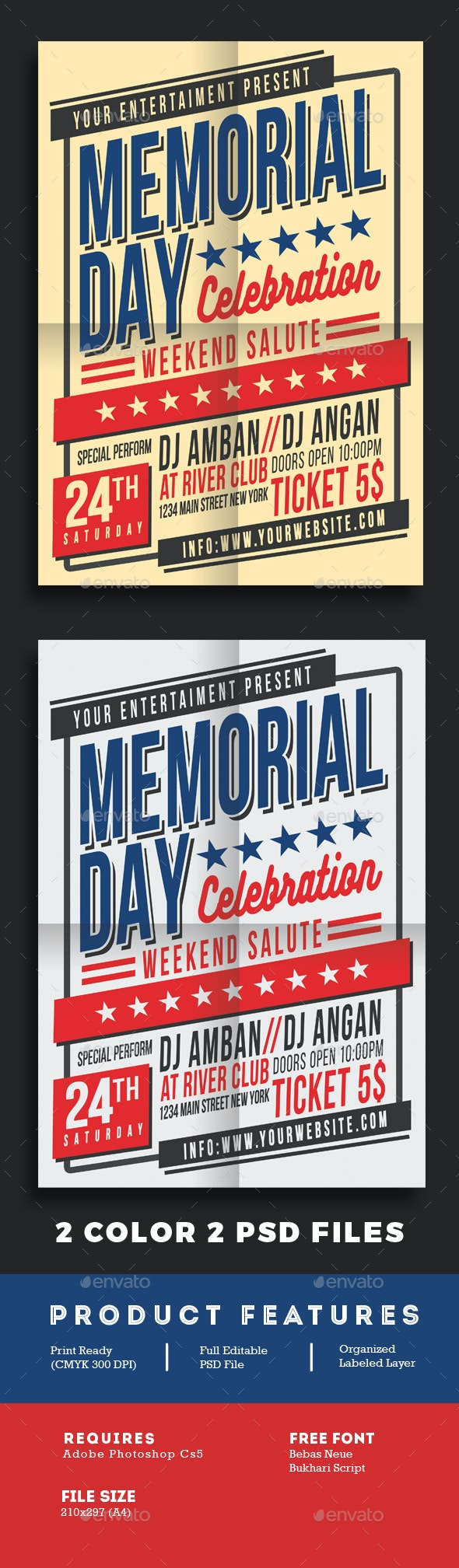 Memorial Day Celebration Flyer Poster - Events Flyers
