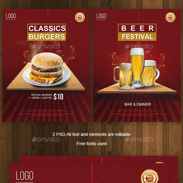 Beer/Burger Flyer