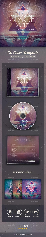 Space Sound CD Cover Artwork - CD & DVD Artwork Print Templates