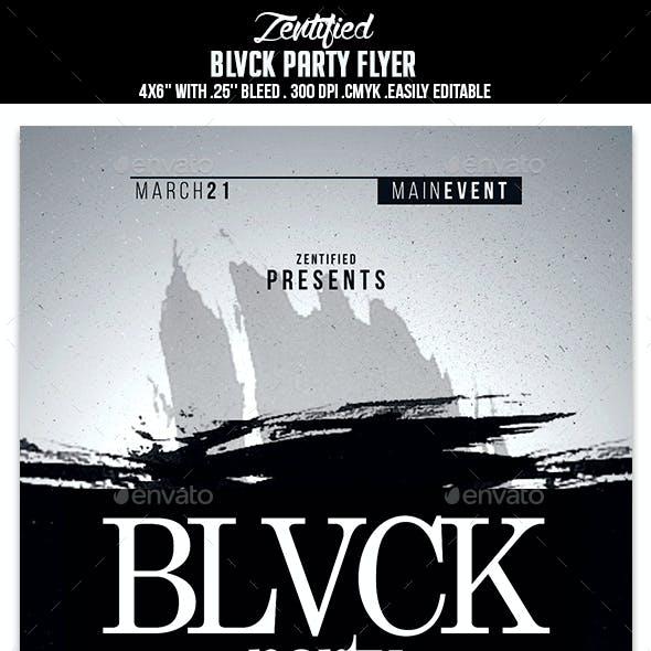Blvck Party Flyer