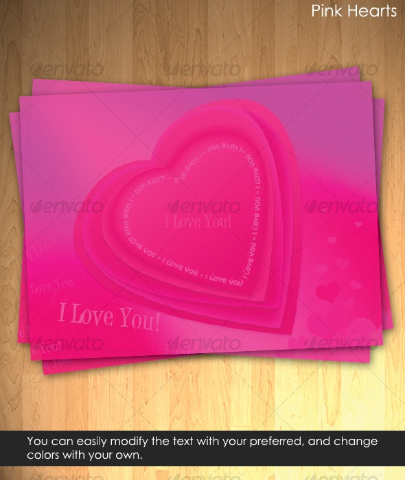 Pink Hearts - Miscellaneous Graphics
