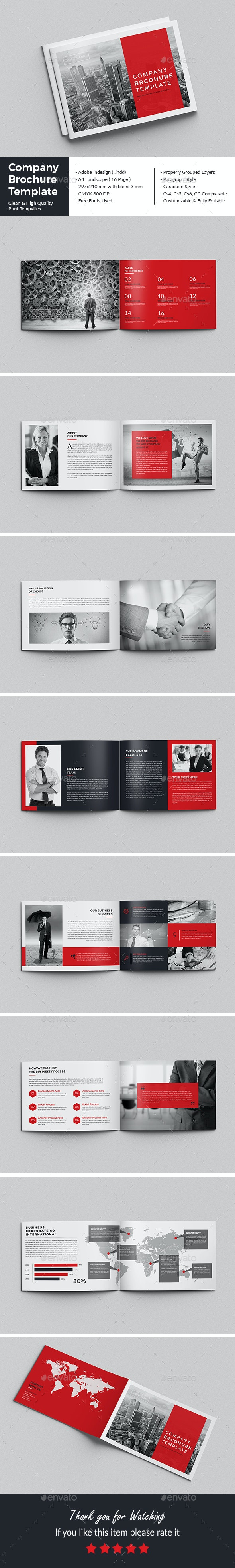 Company Brochure Template - Corporate Brochures