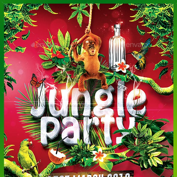 Jungle Party | Tropical Flyer Template