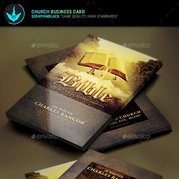 Bible Teacher Church Business Card Template