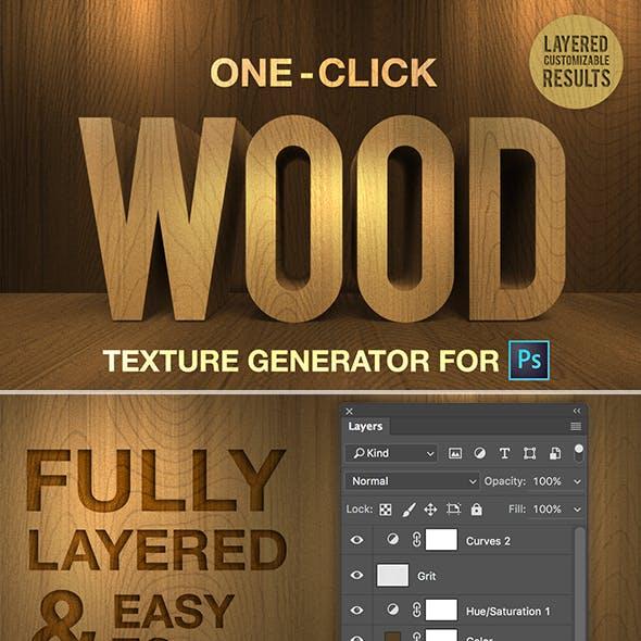 One-Click Wood Texture Generator