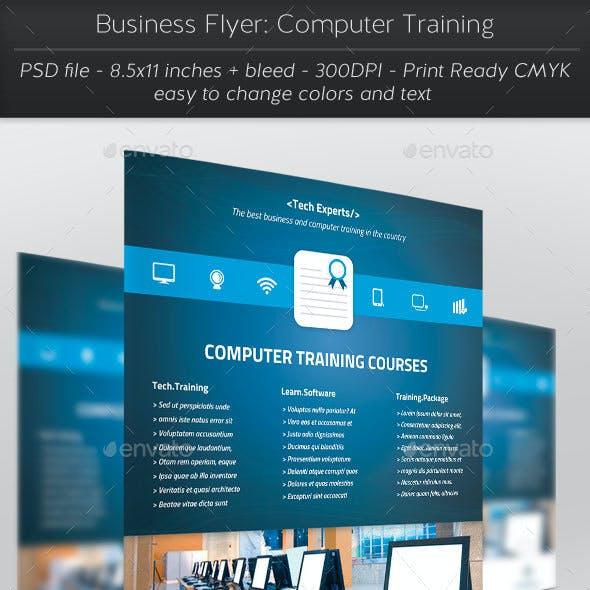 Business Flyer: Computer Training