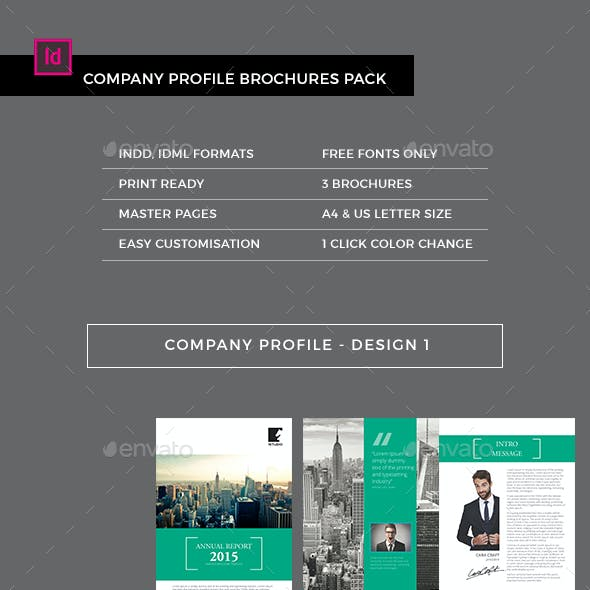 Company Profile Brochures Pack (3-in-1)