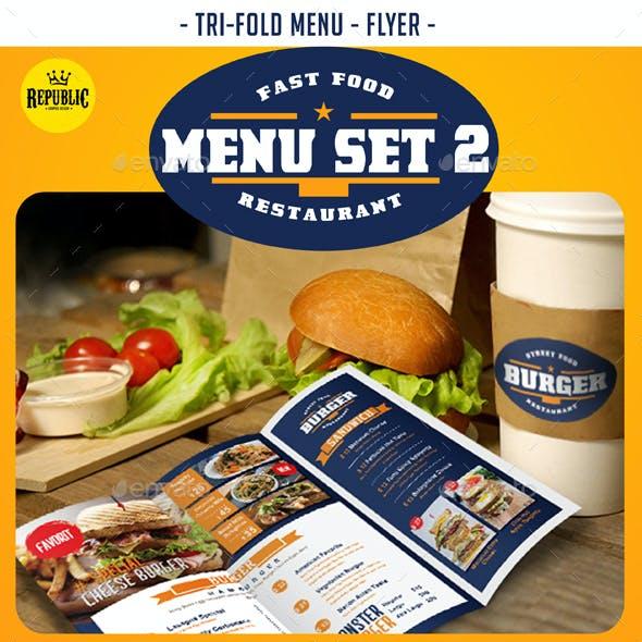 Fast Food Menu Set 2