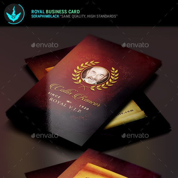 Royal Business Card Template