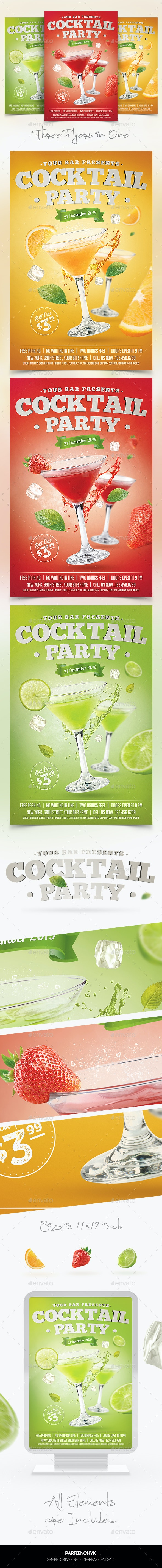 Cocktail Party Flyer Template - Clubs & Parties Events