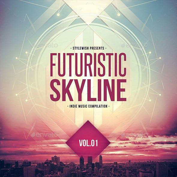 Futuristic Skyline CD Cover Artwork
