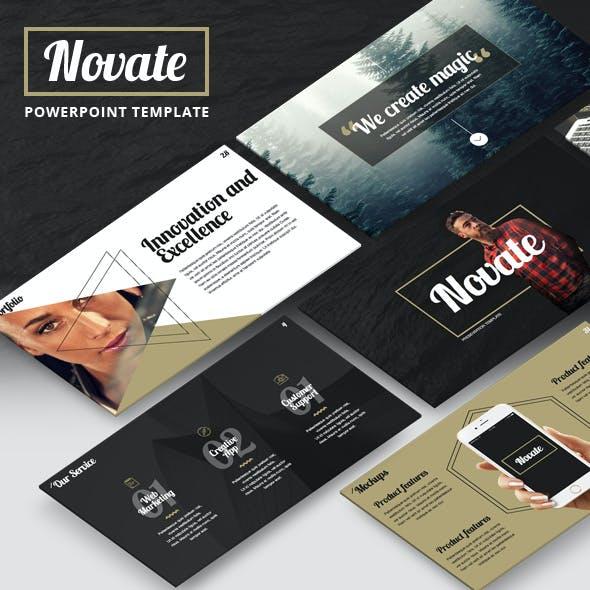 NOVATE - Creative PowerPoint Presentation Template by Jetz