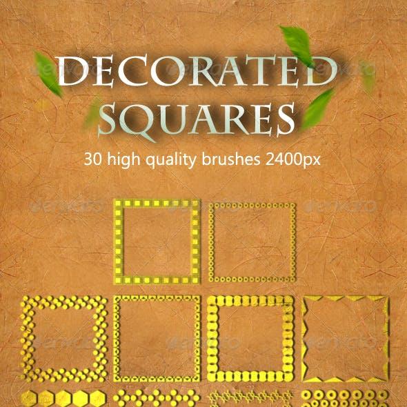 30 Decorated Squares