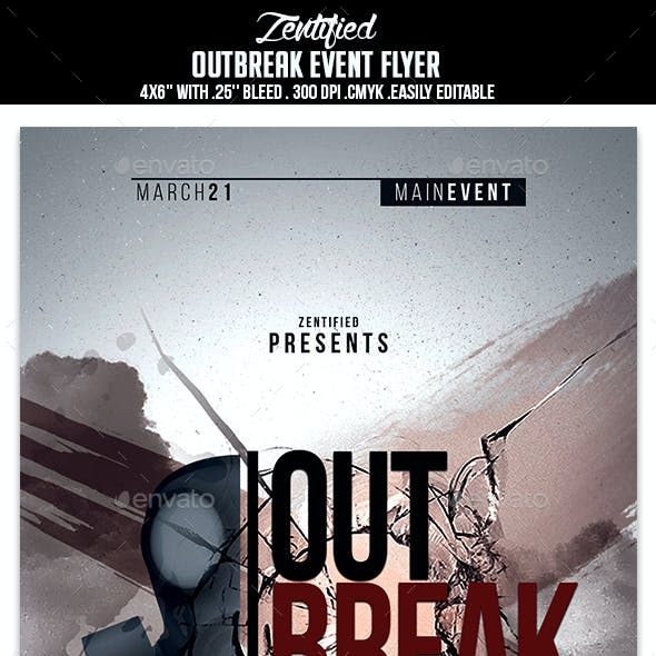 Outbreak Event Flyer