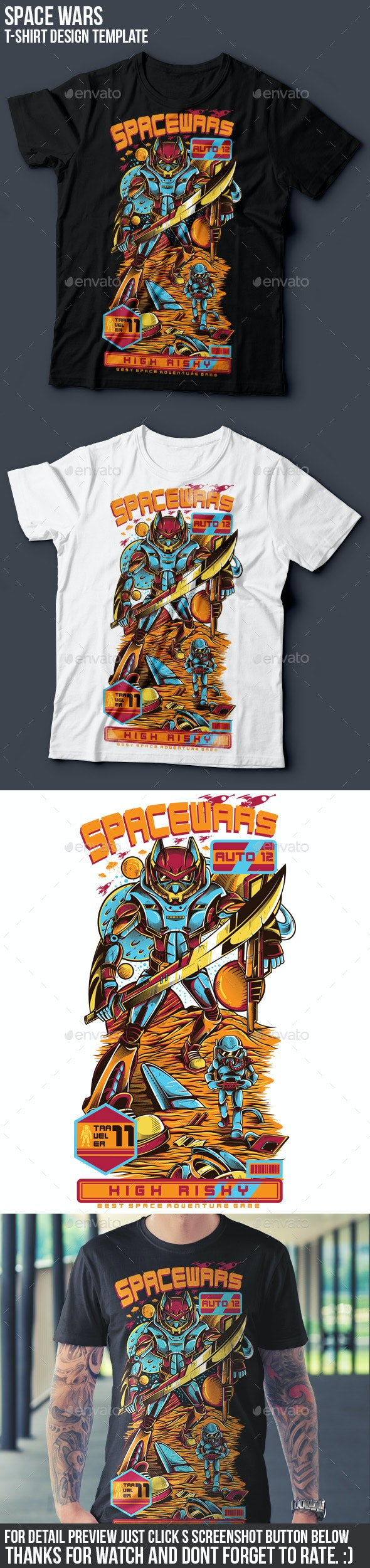 SpaceWars T-Shirt Design - Sports & Teams T-Shirts