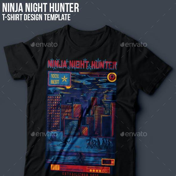 Ninja Night Hunter T-Shirt Design