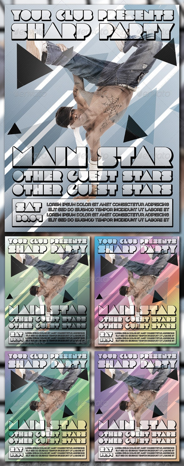 SHARP PARTY POSTER - Clubs & Parties Events