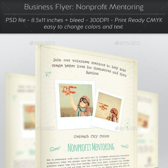 Business Flyer: Nonprofit Mentoring