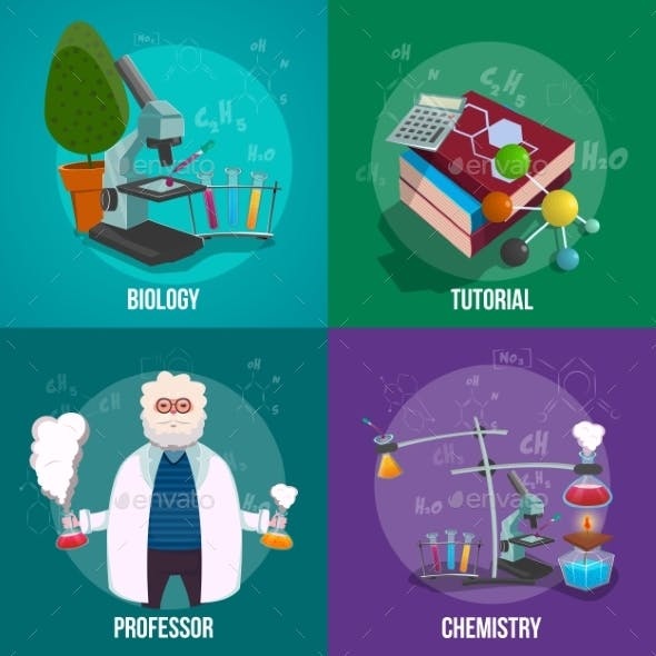 Chemistry Lab Icon Set