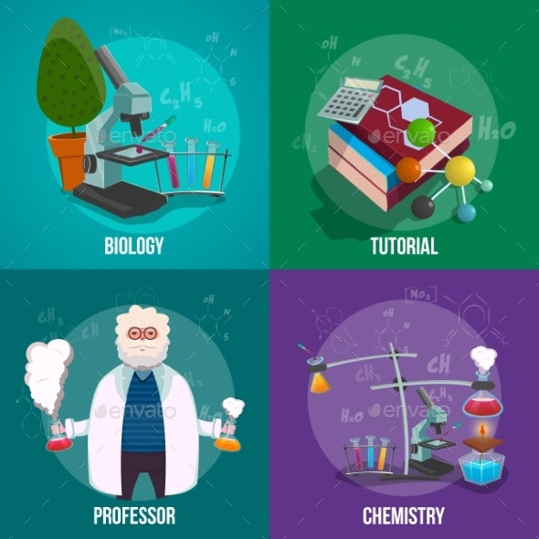 Chemistry Lab Icon Set - Miscellaneous Vectors