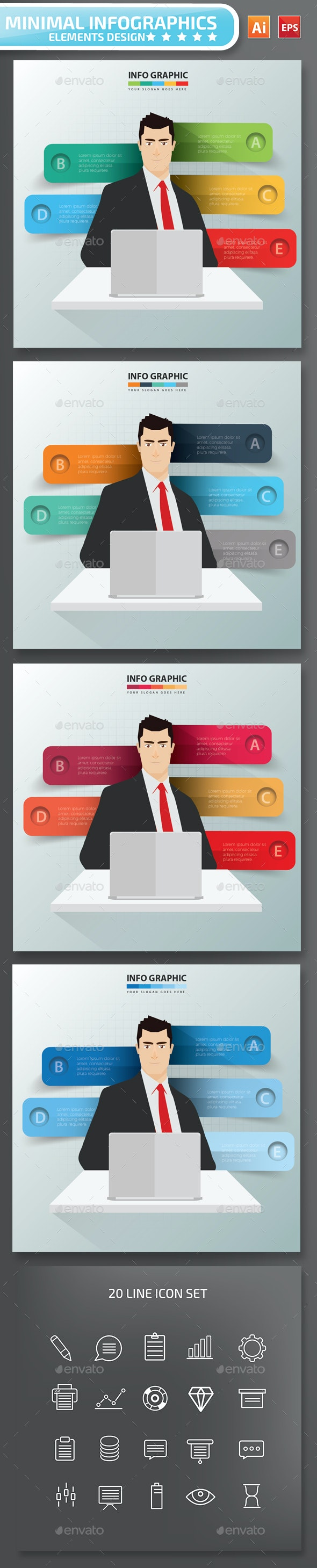 Minimal Businessman infographic Design