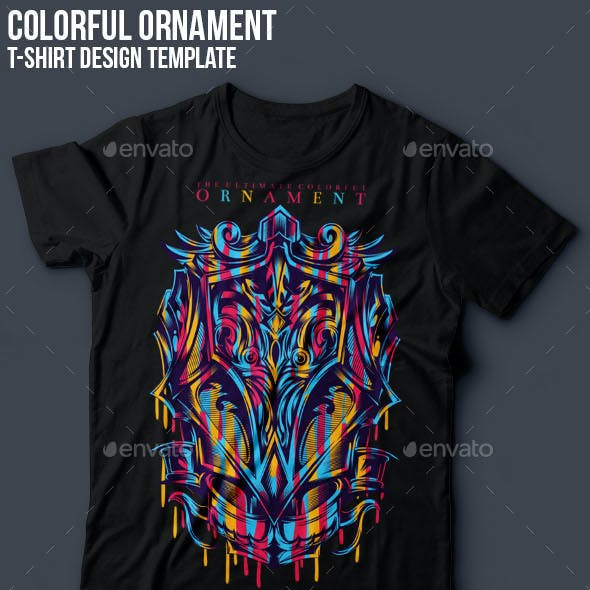 Colorful Ornament T-Shirt Design