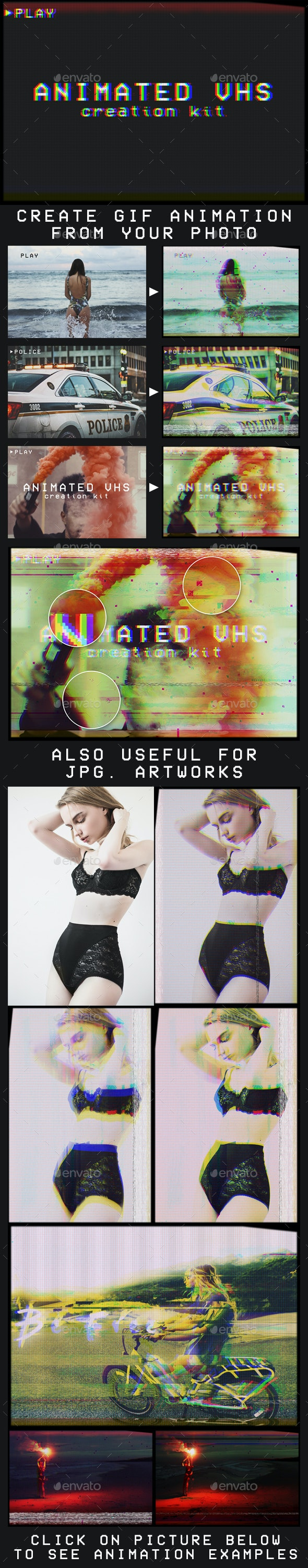 Animated VHS Creation Kit - Artistic Photo Templates