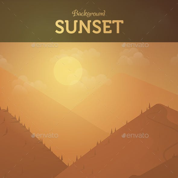 Background Mountain Sunset