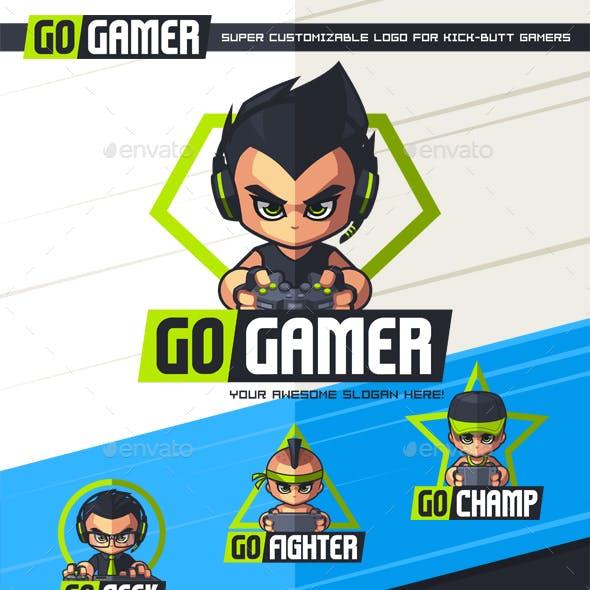 GoGamer - Customizable Logo
