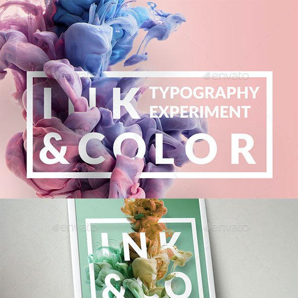 Ink & Typography Mock-up