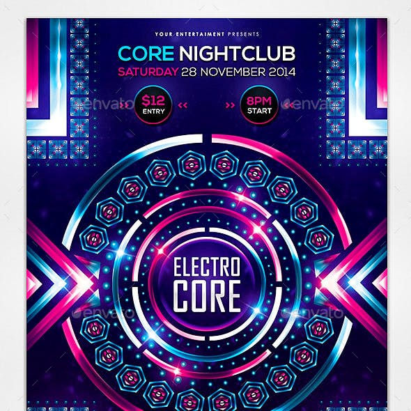 Electro Core Flyer Template
