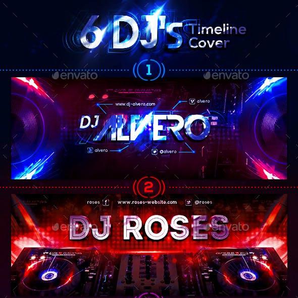 6 DJ's FB Timeline Cover