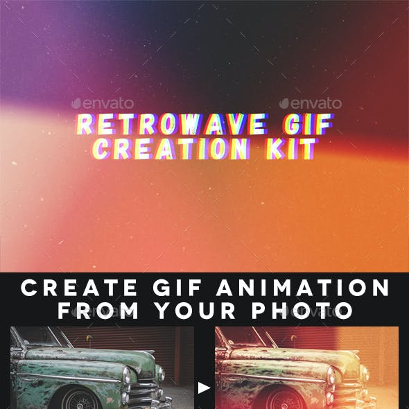 Retrowave Gif Creation Kit