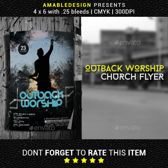 Outback Worship Church Flyer/Poster