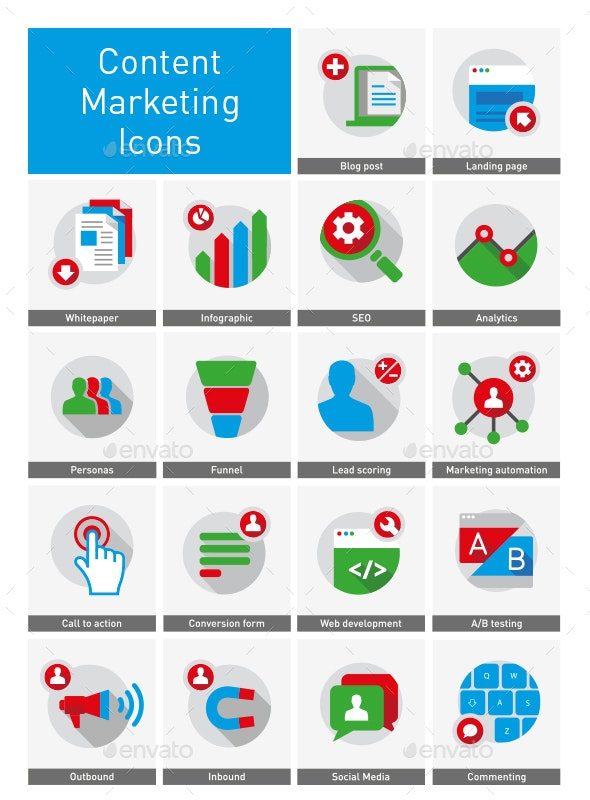 Content Marketing Icons - Business Icons