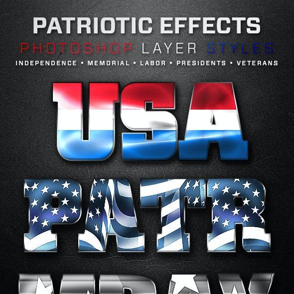 Patriotic Layer Styles