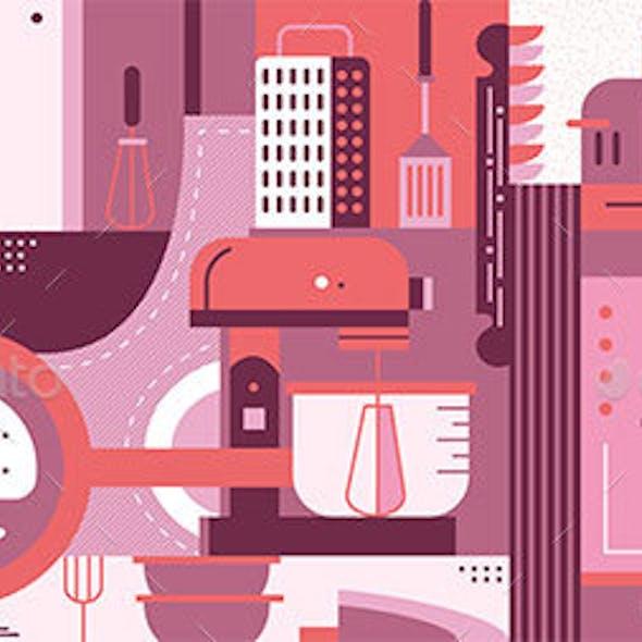 Kitchen Design Abstract Background