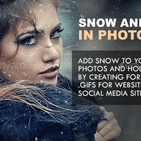 Animated Snow Generator for Photoshop with Instant Color Correction