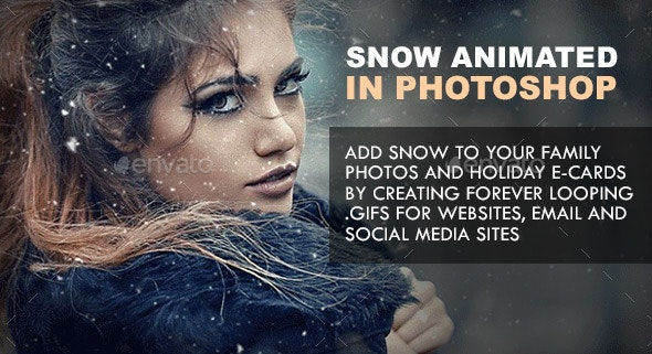 Animated Snow Generator for Photoshop with Instant Color Correction - Miscellaneous Graphics