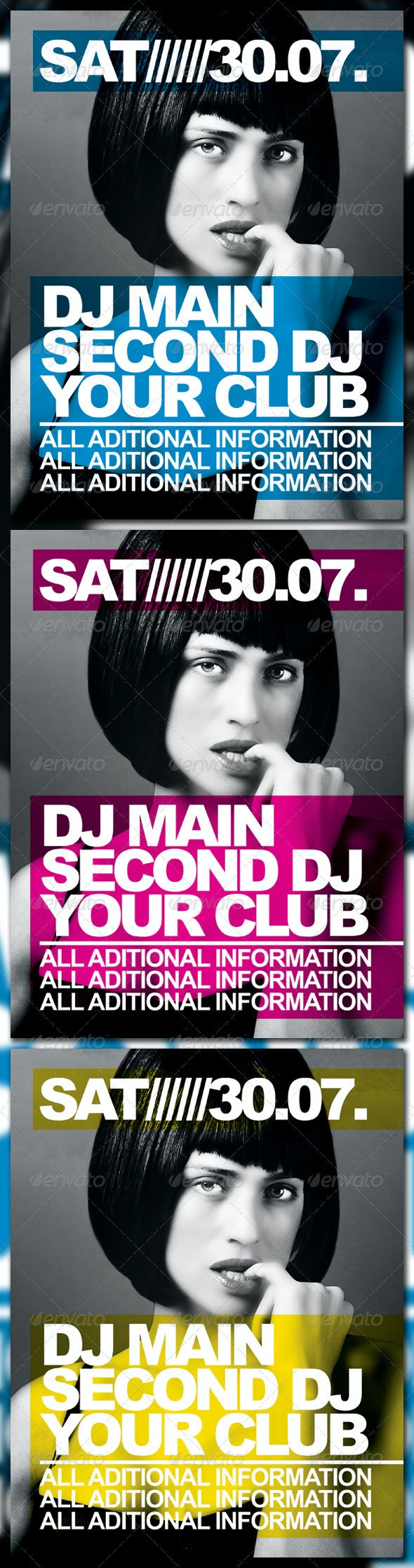 CMYK Party Poster - Clubs & Parties Events